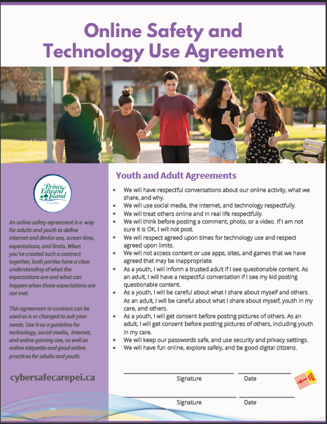 Thumbnail of PEI Online Safety and Technology Use Agreement